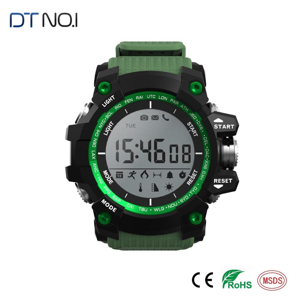 imágenes para Inteligente Bluetooth Reloj Smartwatch Impermeable No. 1 F2 Sueño Altitud de Presión Temperatura Ultravioleta UV Podómetro Reloj Inteligente