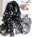 100% pure silk foulard femme hmong scarves printed five star black muslim arabic instant hijab bohemian silk shawls and pashmina