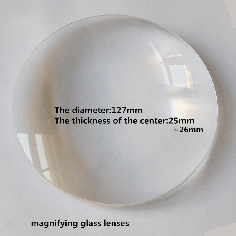 Desktop Magnifier Replace Lens 127mm Big Diameter Magnifying Glass Lens Double Convex White Optical Glass Lens  BIconvex LensDesktop Magnifier Replace Lens 127mm Big Diameter Magnifying Glass Lens Double Convex White Optical Glass Lens  BIconvex Lens