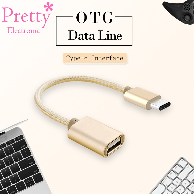 Type-c OTG Cable USB Female to Type C Male Adapter For Macbook Samsung S8 Plus Note 8 ot ...