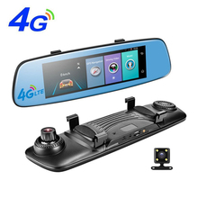 Promo offer 4G Car DVR 7.84″ Touch ADAS Remote Monitor Rear View Mirror with DVR and Camera Android Dual Lens 1080P WIFI Dashcam