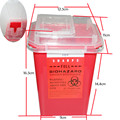 Professional Tattoo Sharps Needles Disposal red Container For Tattoo Artists TC234