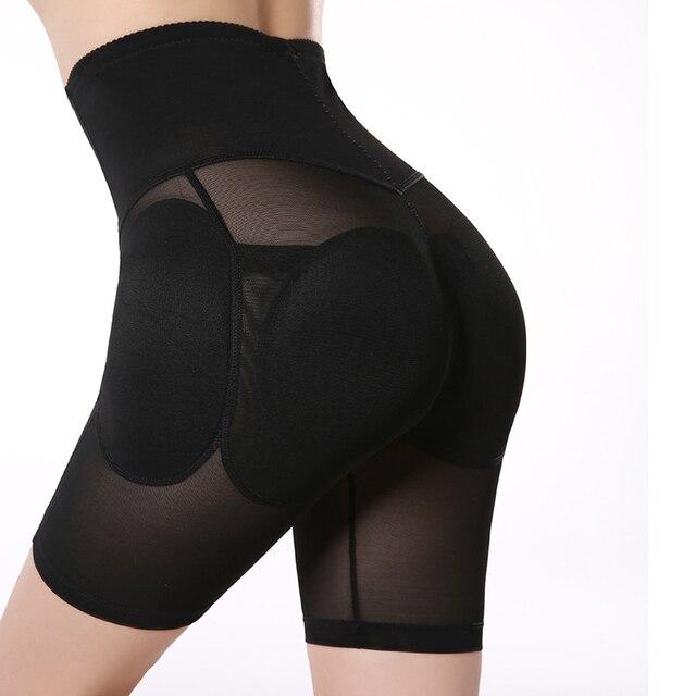 Plus Size S-XXL Black Padded Underwear Women's Hip Enhancer High Waisted Tummy Control Butt Lifter Panties Shapewear 1