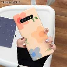 YHBBCASES For Samsung Galaxy S10 5G S8 S9 Plus Colorful Flowers Soft Cases For Samsung Note 10 8 9 Cartoon Floral Phone Cover термобрашинг dewal professional naturel 8 см с хвостиком
