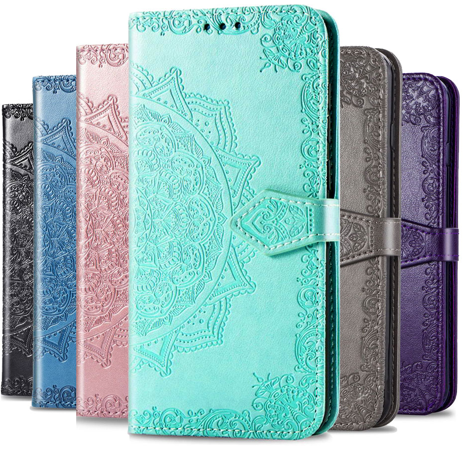 <font><b>3D</b></font> Mandala flower Flip <font><b>Case</b></font> For <font><b>OnePlus</b></font> 7 7 Pro Wallet Phone <font><b>Case</b></font> For <font><b>OnePlus</b></font> <font><b>6</b></font> 6T PU Leather Cover Fundas Capa image