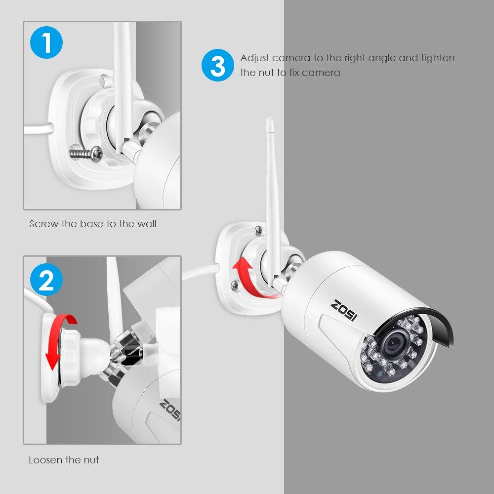 ZOSI 1080P HD 2 0MP Wireless IP Network Camera Weatherproof Outdoor CCTV WiFi Camera with Night