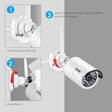 ZOSI 1080 P HD 2.0MP IP لاسلكية كاميرا شبكة مراقبة طقس في الهواء الطلق CCTV واي فاي مع كاميرا للرؤية الليلية