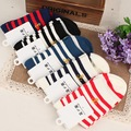 New Men/Women Retro Old School Stripe Three Stripes Cotton Hiphop Skateboard Long/Short Socks Meias Calcetines