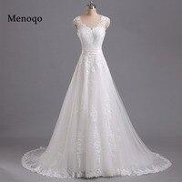 Menoqo Vestido De Noiva A Line Vintage Wedding Dresses Lace Appliques Robe De Mariage China Bridal