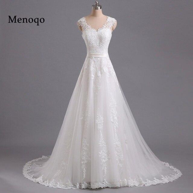 Menoqo Vestido De Noiva A Line Vintage Wedding Dresses Lace Appliques Robe Mariage China Bridal