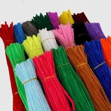 100 sztuk 30cm czyściki szenilowe Twist Wire pnie czyściki do fajki dzieci dzieci Handmade edukacja dekoracyjne sztuczne kwiaty i wieńce