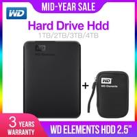 Western Digital WD Elements 2.5 Portable 1TB 2TB 3TB 4TB USB3.0 External Hard Drive Hdd Disco Duro Externo Disque Portable