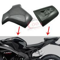 Real Carbon Fiber Rear Seat Cover Cowl +Fuel Gas Tank Protector Pad Fits For 2004 2007 Honda CBR1000RR CBR 1000RR 05 06 Custom