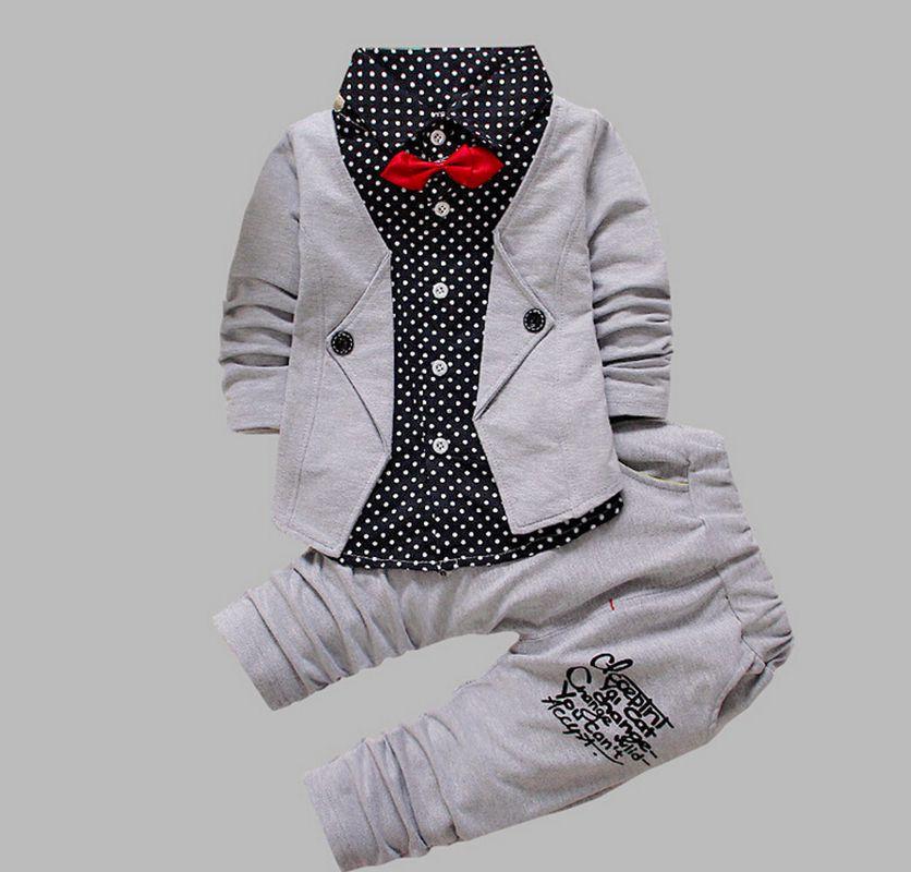 розничная продажа осень 2017 г. для маленьких мальчиков повседневное с длинными рукавами костюмы комплект для малышей и детей постарше модная клетчатая куртка + брюки 2 шт комплекты для девочек