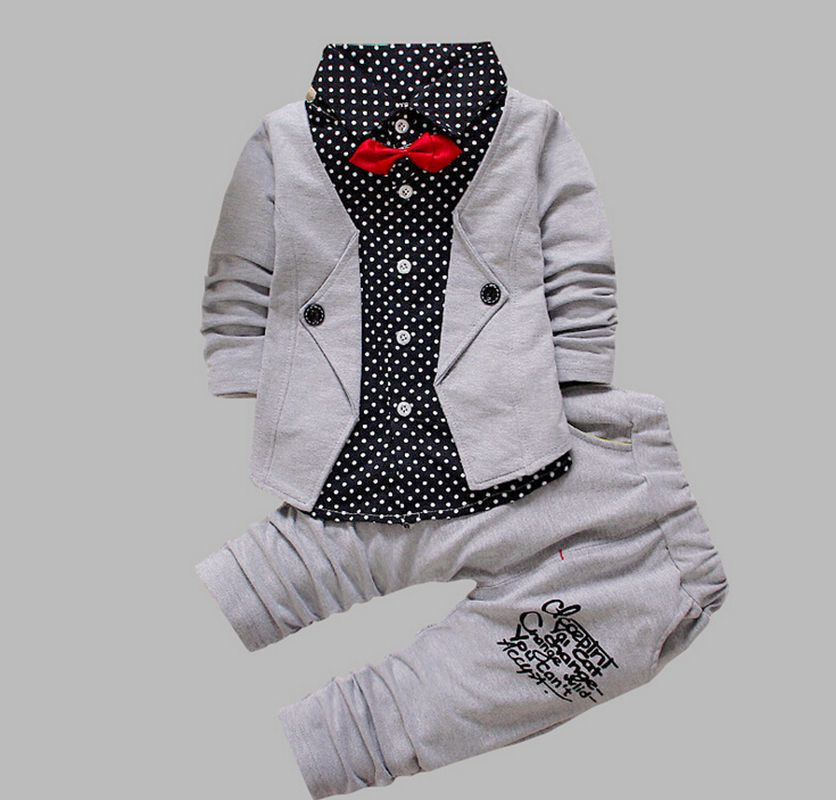 QSKWFY Babe Baby Boys Kids shirt pant 2 pcs clothing sets