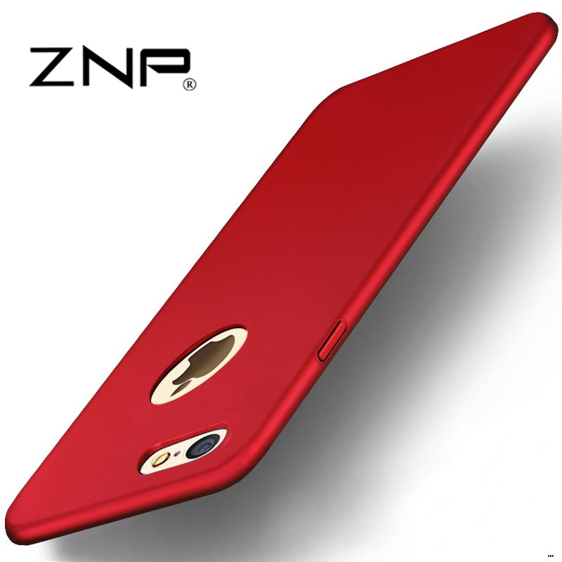 Luxury Hard Back Plastic matte Cases for iPhone 6 red Case 5s 6s 6 plus 6s 5 SE For iPhone 7 Plus red Case PC Full Cover Phone