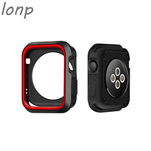 ФОТО silicone case for apple watch 42mm 38mm full protector case rubber case for iwatch 1/2 soft shell
