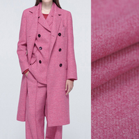 Thin Sweet Pink Wool Fabric for Spring and Autumn Suit Dress Outwear Overcoat Jacket 150CM Wide 340G/M Weight DE619