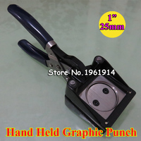 NEW Hand Held Manual Round 25mm 1 Paper Graphic Punch Die Cutter for Pro Button Maker Cutting Diamater 25mm
