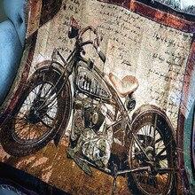 Потертый шик мотоцикл хлопок винтажный ковер плотное одеяло галстук-краситель Индийский стиль одеяло покрывало для кровати Войлок гобелен примитивный Декор