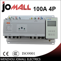 New type 100A 4 poles 3 phase automatic transfer switch ats with English controller