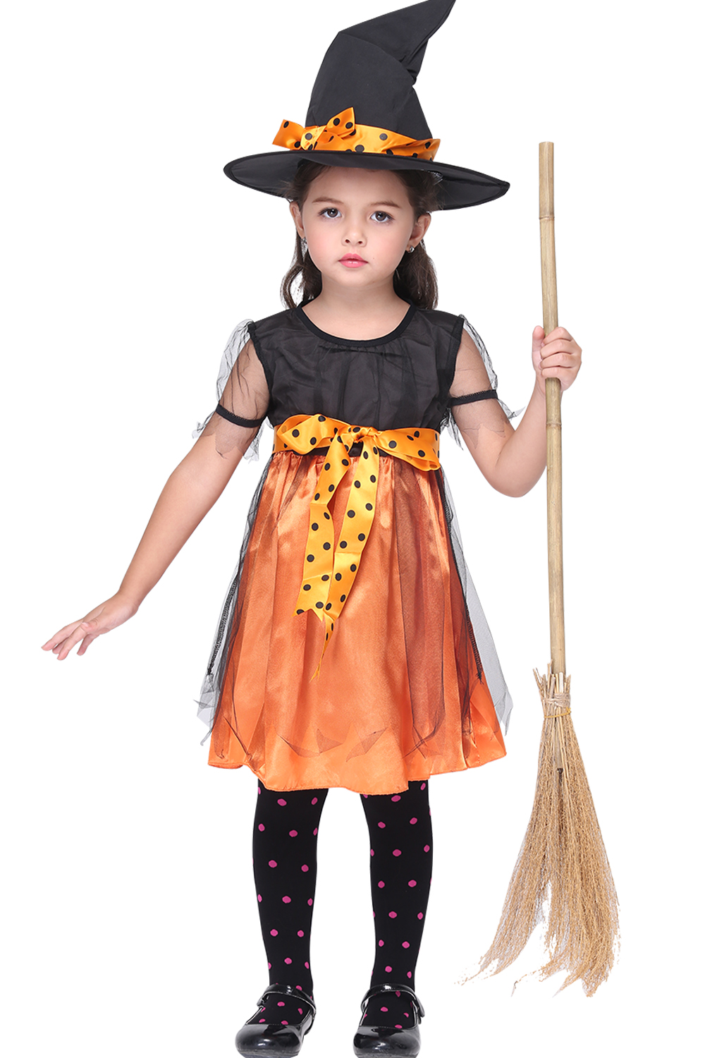 kids halloween party cosplay witch costume for girls halloween