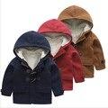 Дети шерсти пальто малыш мальчики толстые теплые зимняя куртка из искусственного меха с капюшоном пиджаки красный топы 1 лет