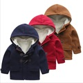 children wool coats baby toddler boys thick warm winter faux fur jacket hooded outwear red tops 1 years old