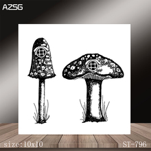 AZSG Mushroom Clear Stamps/Stamp/For Scrapooking/Card Making/Silicone Stamps/Decoration  Crafts