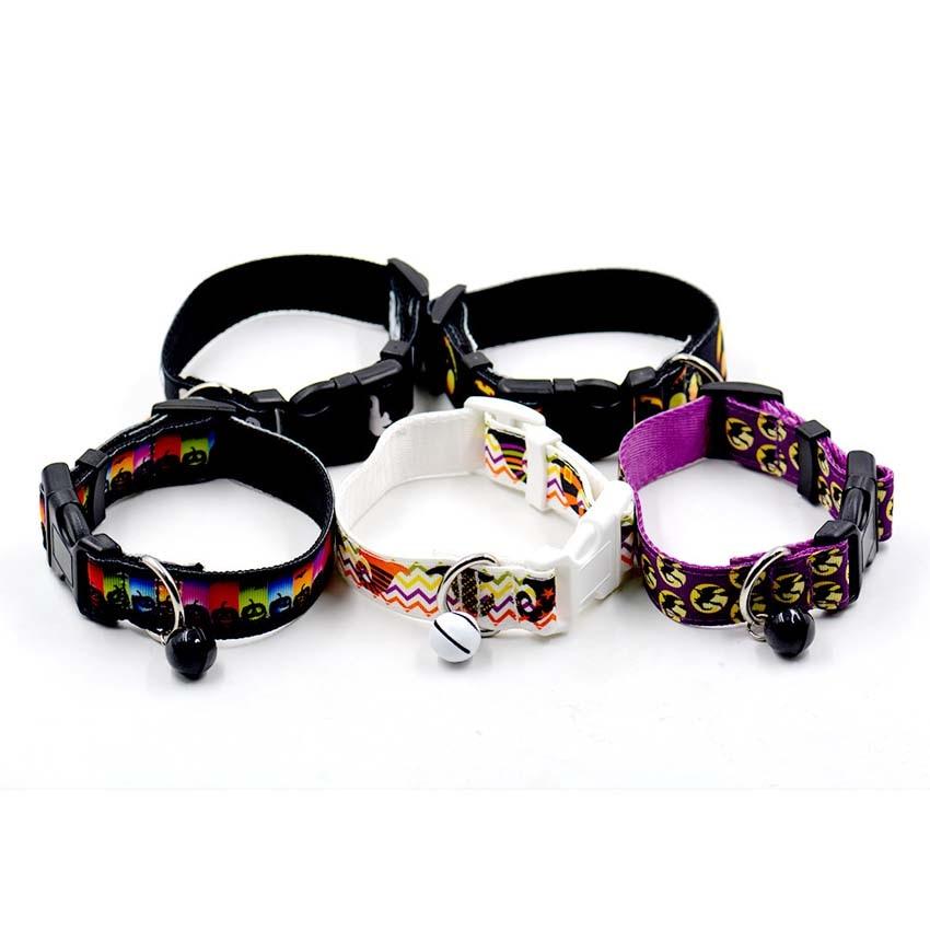 Nieuwste Halloween Pet Dog Collars Verstelbare Nylon Bat Skelet - Producten voor huisdieren - Foto 2