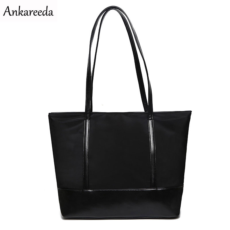 Ankareeda Casual Oxford Leather Bag Women's Handbag Fashion Women Shoulder Bags Big Tote Bags for Women Bag aosbos fashion portable insulated canvas lunch bag thermal food picnic lunch bags for women kids men cooler lunch box bag tote
