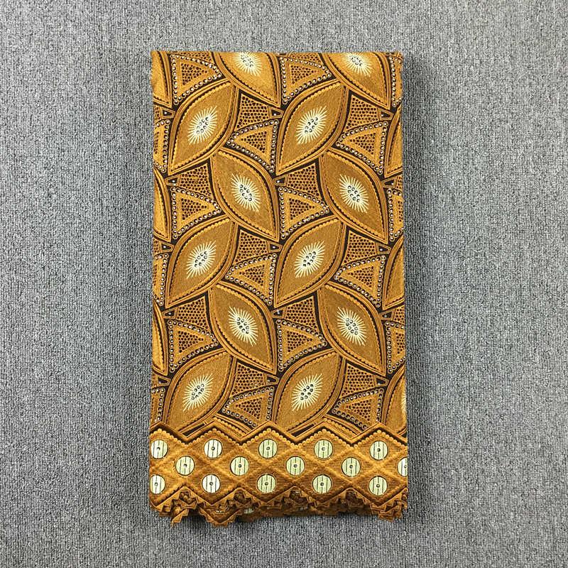 Tela de encaje africano encaje bordado oro encaje 100% algodón gasa 017 5yds para vestido de boda-in encaje from Hogar y Mascotas    2