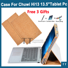 "PU Leather Folding Folio Case for CHUWI Hi13 Host and Keyboard for 13.5"" Tablet PC Cover Case+ free Screen Protector gifts"