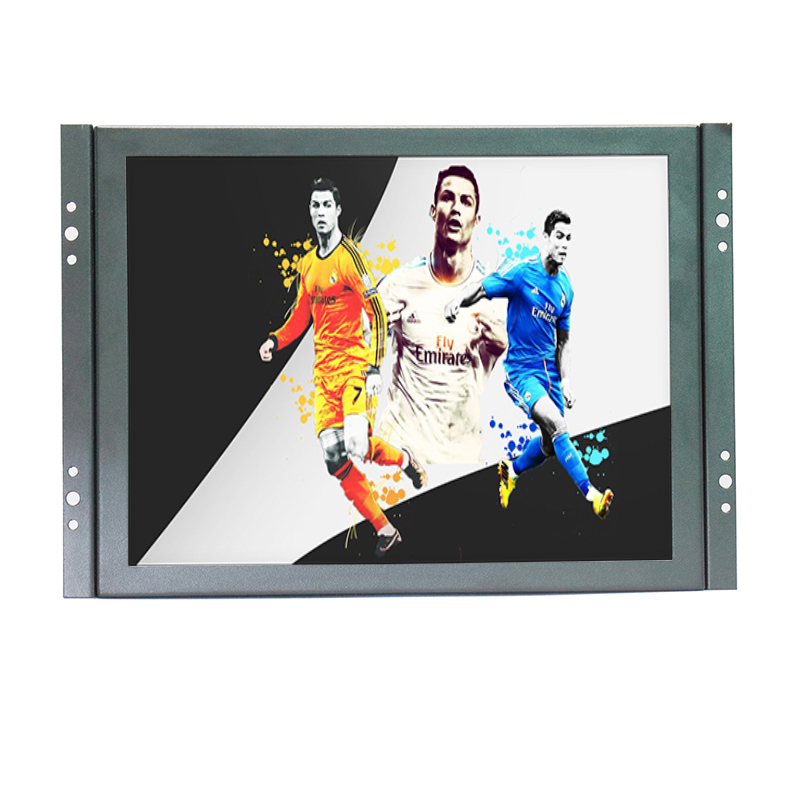 8 Inch 4:3 1024*768 high resolution open frame monitor, lcd monitor with AV/BNC/VGA/HDMI/USB interface white 8 inch open frame industrial monitor metal monitor with vga av bnc hdmi monitor