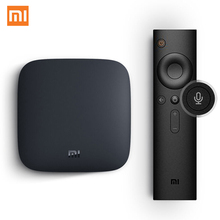 Xiaomi TV Box mundial 3 Android 6.0 Inteligente 4 K Cortex-A53 WiFi Bluetooth 8 GB Sling Youtube Netflix 4 K H.265 Decodificador DTS Dolby