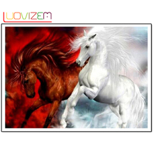 Diy Diamond Painting Horse Diamond painting full square 5D Diamond embroidery Mosaic Stitch Crafts Decoration L149 3d diy diamond painting horse square rhinestone diamond embroidered mosaic mosaic stitch crafts luovizem l149