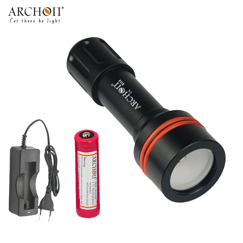 Archon D11V W17V Diving FlashLight Underwater Photographing Light Video 860 lumen 3mode torch with battery and charger archon d10xl 3 mode white diving flashlight underwater 100m torch waterproof led light by 18650 battery for outdoor sports