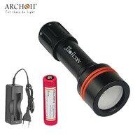 Archon D11V W17V Luz de Vídeo Fotografía Subacuática Buceo Linterna 860 lumen 3 modo de linterna con batería y cargador