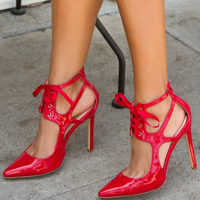 CHIC Women/'s T-Bars Rivet Studded High Heel Pumps Court Party Pointed Toe Shoes