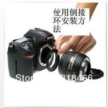Обратное кольцо 52 мм Макро реверсивное кольцо адаптер для объектива фотовспышки для крепления NIKON для объектива D3100 D7100 D7000 D5100 D5000 18 55 мм 50 f1.8