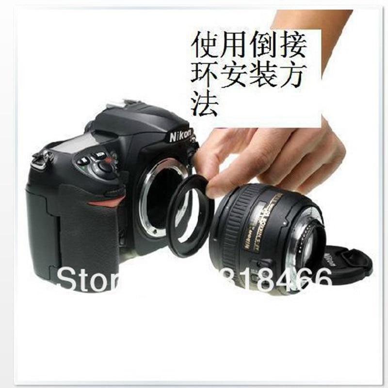 Reverse Ring  52mm Macro Reverse Lens Adapter Ring AI-52 For NIKON Mount For D3100 D7100 D7000 D5100 D5000  18-55mm 50 F1.8 LENS