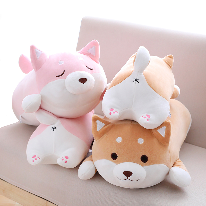 1pc 36cm Kawaii Fat Shiba Inu Dog Plush Toy Stuffed Soft Animal Cartoon Pillow Christmas Gift for Kids Baby Children 68cm kawaii bull terrier dog plush kids toy emoji sleeping pillow toy cute soft baby toys stuffed dolls for children girl gifts