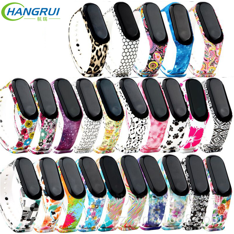 Hangrui for xiaomi mi band 3 strap bracelet sport silicone replacement wristband bracelet for mi band 3 strap Mi band3 smartband hangrui colorful silicone strap for xiaomi mi band 2 wristband bracelet strap replacement watch straps for mi band 3 accessories