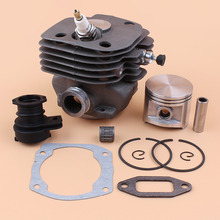 52MM Cylinder Piston WT Intake Manifold Kit For HUSQVARNA 362 365 371 372 372XP BIG BORE W/ Decompression Valve Spark Plug