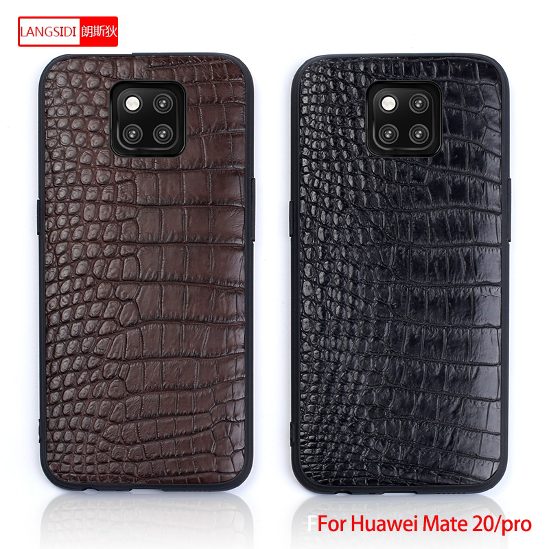 Para Mate 20 Funda de cuero genuino para Huawei P10 P20 Lite Pro funda estilo empresarial textura triangular para Mate 20 pro capa