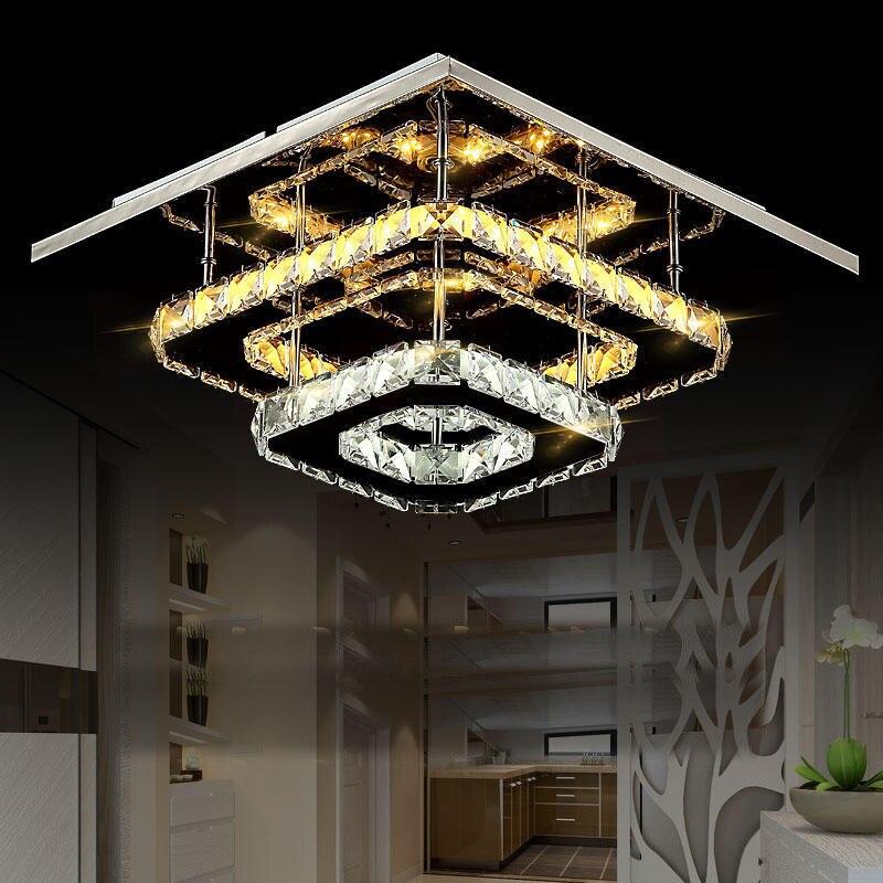In Design; The Cheapest Price Modern Crystal Ceiling Lamp Led Lamps Stainless Steel Living Room Ceiling Lamps High-power Led Lustre Light Ceiling Lights Novel