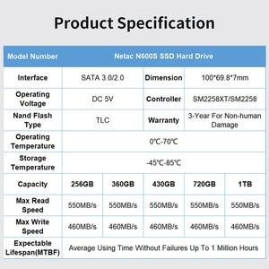 Image 2 - Original Netac 1TB SSD 128GB 256GB 512GB Hard Drive SATA III Internal Solid State Drive 1 TB 720GB SSD Disk For Laptop Desktop