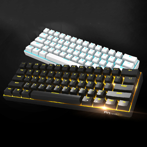 Image 3 - Yeni _ _ _ _ _ _ _ _ _ _ _ _ _ _ _ _ _ _ _ _ tuşları RK61 Bluetooth kablosuz beyaz LED aydınlatmalı ergonomik mekanik oyun klavyesi oyun aydınlatmalı dizüstü bilgisayar için