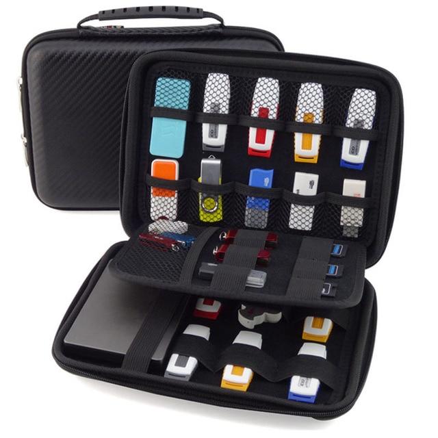 Big size external hard disk protector bag USB Drive Organizer Hard Drive Bag removable hard disk case enclosure GH1319