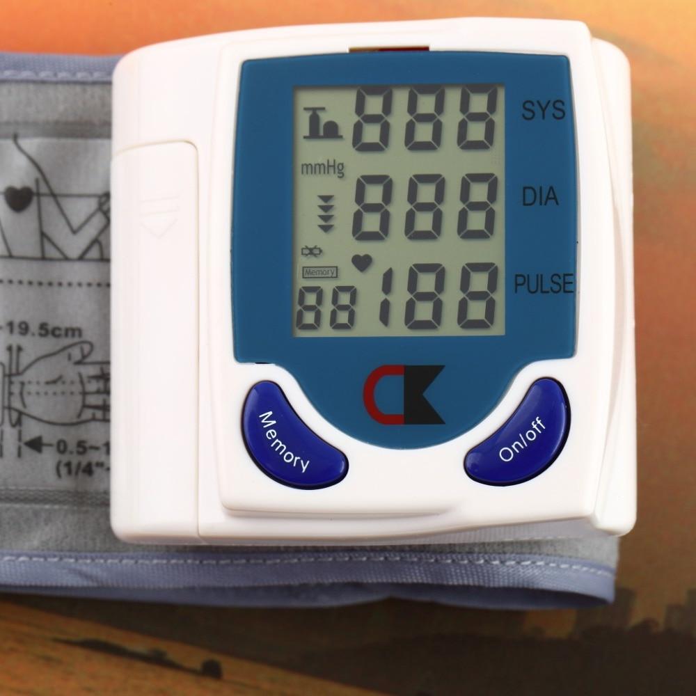 Дома Автоматический Наручные цифровой жк монитор артериального давления портативный Тонометр Метр для измерения артериального давления метр oximetro де dedo